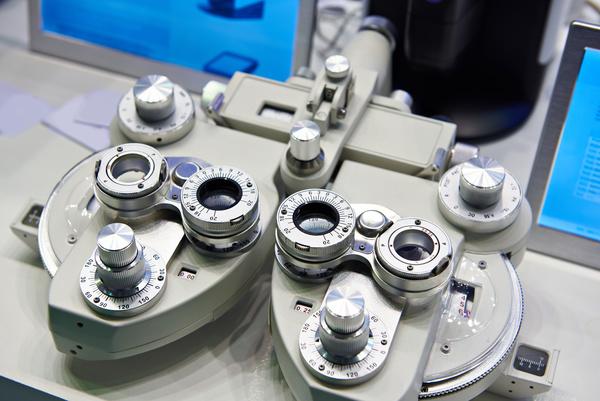 Comprehensive refractometer Stock Photo
