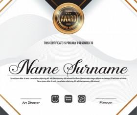 Creative certificate template vectors set 08
