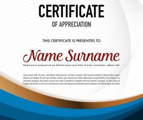 Creative certificate template vectors set 09