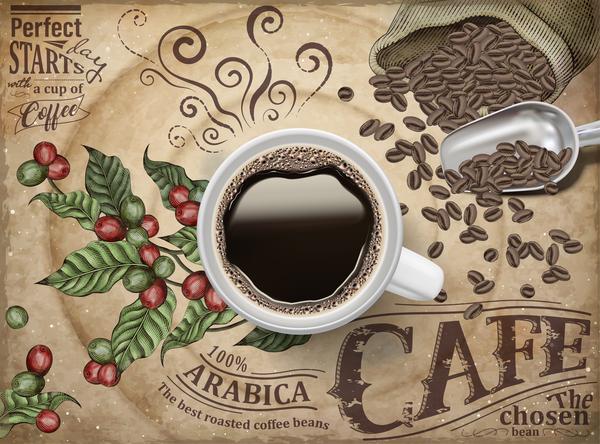Creative coffee poster template vectors 01