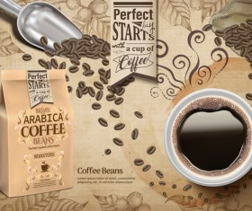 Creative coffee poster template vectors 04