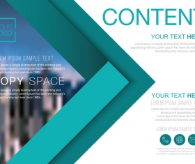 Creative company brochure with flyer cover vector 01