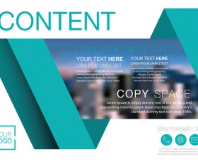 Creative company brochure with flyer cover vector 03