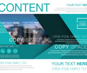 Creative company brochure with flyer cover vector 04