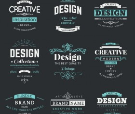 Creative decor labels vector