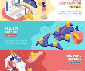 Crowdfunding banners vector template