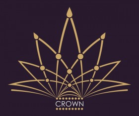 Crown logo template vectors 01