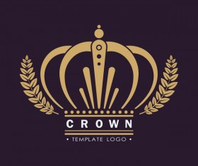 Crown logo template vectors 02