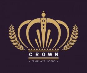 Crown logo template vectors 02
