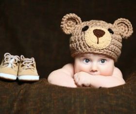 Cute baby and shoes Stock Photo 01