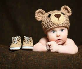 Cute baby and shoes Stock Photo 02