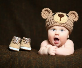 Cute baby and shoes Stock Photo 03