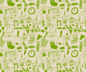 Cute doodle christmas seamless pattern vector 02