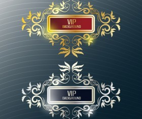 Decor VIP labels vector