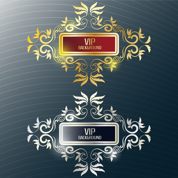 Decor VIP labels vector