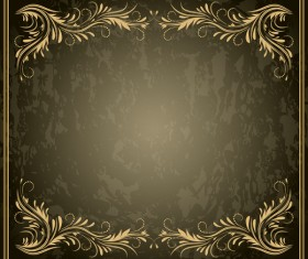 Decorative floral with retro frame vectors 01