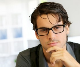 Different styles of handsome men Stock Photo 07