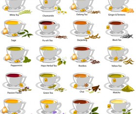 Different tea vector set 02