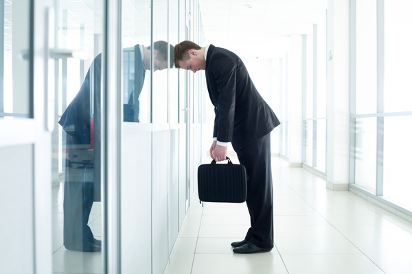 Disappointed man Stock Photo