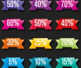 Discount banner colored vector