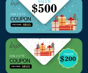 Discount coupon template vector 01