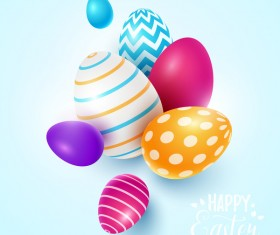 Easter egg with blue backgrounds vector 02