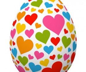 Easter egg with heart vector
