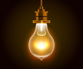 Electric light bulb vector material