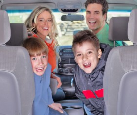 Family self driving tour Stock Photo 01