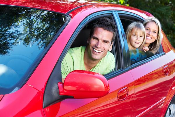Family self driving tour Stock Photo 04