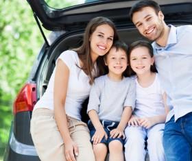Family self driving tour Stock Photo 06