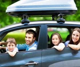 Family self driving tour Stock Photo 07