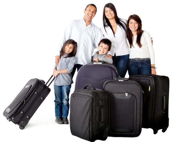 Family traveling to vacation Stock Photo 01