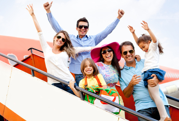 Family traveling to vacation Stock Photo 02