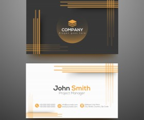 Fashion modern business cards vector template