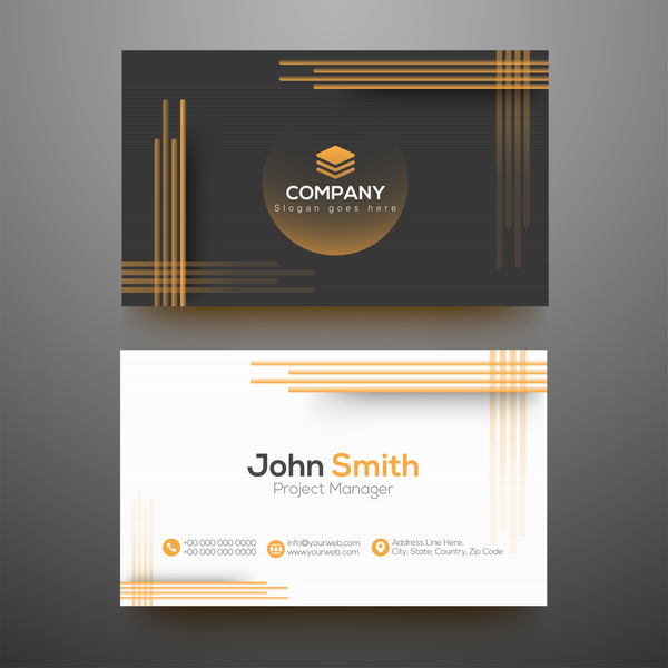 Fashion modern business cards vector template vector business free fashion modern business cards vector template reheart Gallery