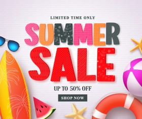 Fashion summer holiday background template vector 06