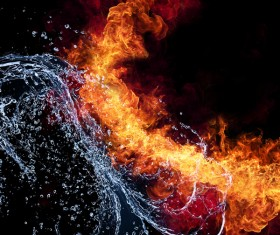 Fire and Water Stock Photo 03