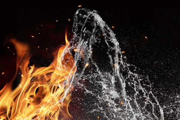Fire and Water Stock Photo 05