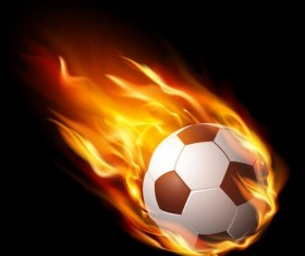 Fire flame with soccer vector