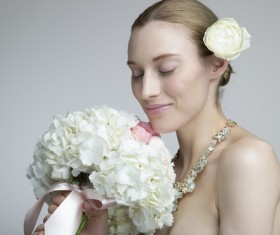Flower in the womens hair Stock Photo 10
