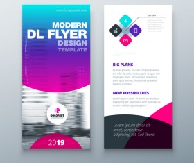 Fold brochure with flyer cover template vector 03