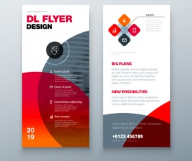 Fold brochure with flyer cover template vector 04