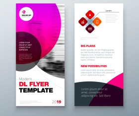 Fold brochure with flyer cover template vector 08
