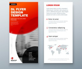 Fold brochure with flyer cover template vector 09
