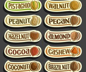 Food sticker banner vector 02