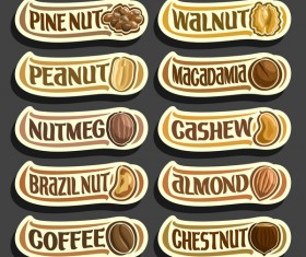 Food sticker banner vector 03