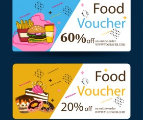 Food voucher template vector
