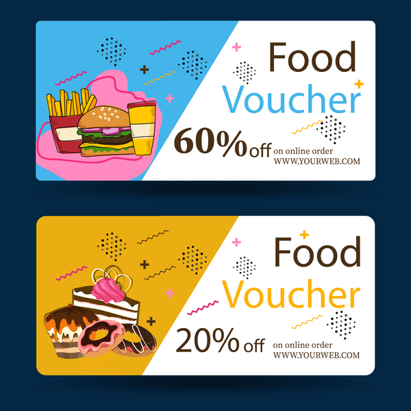 Food Voucher Template Vector  Vector Banner Free Download
