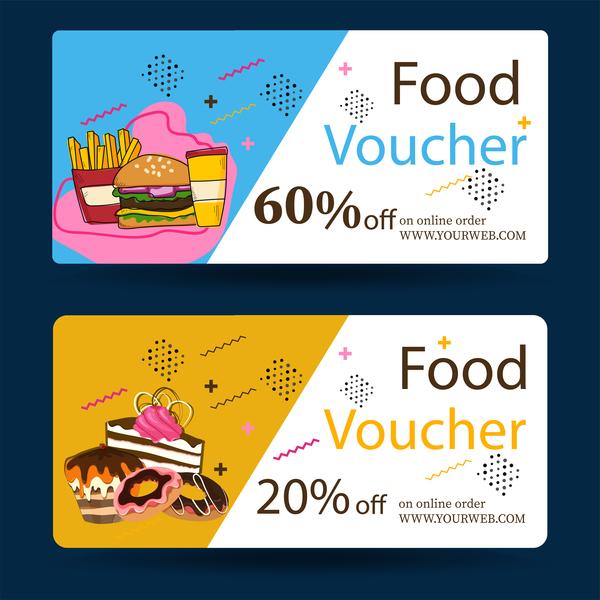 Food Voucher Template Vector